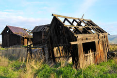 Decrepit. Old homestead buildings with weathered wood Stock Photography