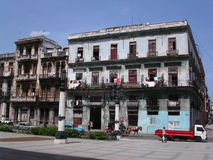 Decrepit building. In old Havana.  Cuba Royalty Free Stock Photography