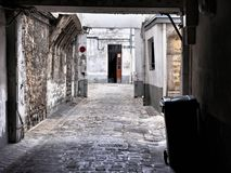 Decrepit courtyard in Paris Royalty Free Stock Images