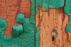 Decrepit green Old Wood Background. Texture Stock Photography