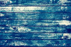 Decrepit grunge blue old wood background Stock Photo