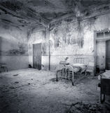 Decrepit hospital room royalty free stock photo