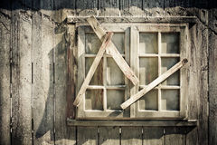 Decrepit window. Photo of a decrepit window of wood Stock Photos