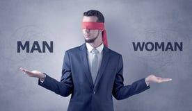 Decreto coperto non decisivo dell'uomo d'affari immagini stock