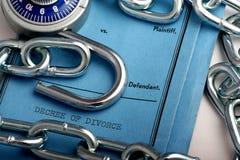 Decreto di divorzio Immagini Stock Libere da Diritti