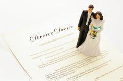 Decreto di divorzio Fotografie Stock Libere da Diritti