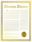 Decreto di divorzio Fotografia Stock Libera da Diritti