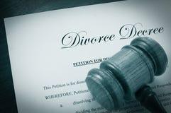 Decreto di divorzio Fotografie Stock