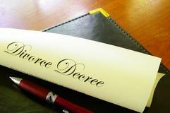Decreto do divórcio Fotografia de Stock