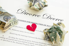 Decreto do divórcio Imagens de Stock