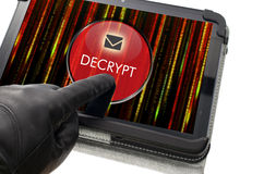Decrypting e-mail concept Stock Images
