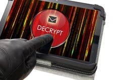 Decrypting mejlbegrepp Arkivbilder