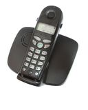 DECT Phone. On a white background isolated stock images