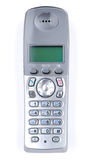DECT phone. Modern wireless DECT phone isolated with clipping path on white background Royalty Free Stock Photo
