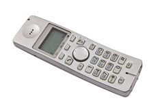 Dect phone isolated on the white. Plastic dect phone isolated on the white Stock Photography