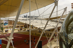 The Decumano shading roof, EXPO 2015 Milan Stock Photo