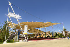 Decumano tensile membrane structure, EXPO 2015 Milan Royalty Free Stock Photos