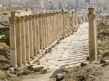 Decumanus, Jerash Royalty Free Stock Images