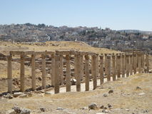 Decumanus, Jerash, Jordânia Fotos de Stock Royalty Free