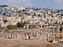 Decumanus in Jerash, Jordan Royalty Free Stock Photography