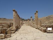 Decumanus, Jerash, Jordan Royalty Free Stock Photo