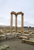 The decumanus at Palmyra, Syria Royalty Free Stock Images