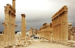 Decumanus von Palmyra Lizenzfreies Stockfoto