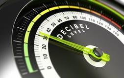 Decybla poziom, dB Zdjęcie Royalty Free