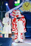 Ded莫罗兹(父亲弗罗斯特)和Snegurochka (雪未婚) 免版税库存照片