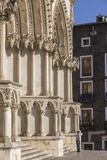 Ded деталь фасада собора Cuenca, собор Стоковые Изображения
