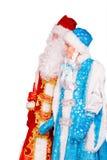 Ded Moroz (отец Frost) и Snegurochka (девушка снега) Стоковые Изображения