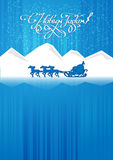 Ded Moroz rides in a sleigh Stock Photography
