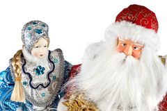 Ded Moroz and Snegurochka Stock Images