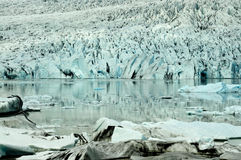 Details of glacier front Royalty Free Stock Photos