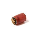 Dedal de madeira feito à mão com pequeno ponto Imagens de Stock
