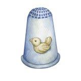 Dedal de plata adornado con el pájaro libre illustration