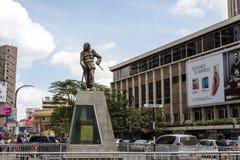 Dedan Kimathi monument. Nairobi, Kenya - December 7, 2016: Dedan Kimathi monument. Dedan led an armed military struggle known as the Mau Mau uprising against the royalty free stock photo