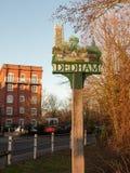 dedham post speciaal essexland van het dorpsteken Stock Fotografie
