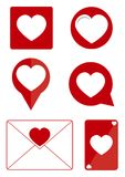 Beautiful love heart icon Stock Images
