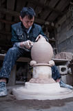 A dedicated Chinese potter Royalty Free Stock Photography
