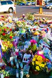 Dedicated flower bed of the Las Vegas Shooting victims Royalty Free Stock Photography
