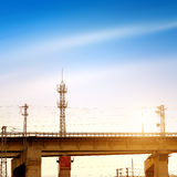 Dedicated high-speed train viaduct Stock Images