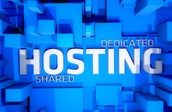 Dedicated Hosting stock images