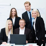 Dedicated professional business team Stock Images