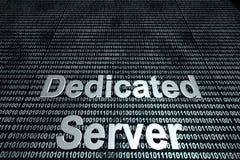 Dedicated Server binary background Stock Photos