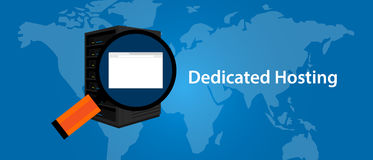 Dedicated server web hosting services infrasctructure technology Royalty Free Stock Image