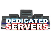 Dedicated servers Stock Image