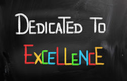 Dedicated To Excellence Concept Royalty Free Stock Photography