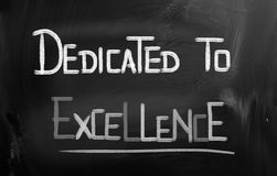 Dedicated To Excellence Concept Stock Photo