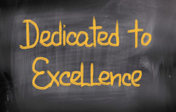 Dedicated To Excellence Concept Royalty Free Stock Image